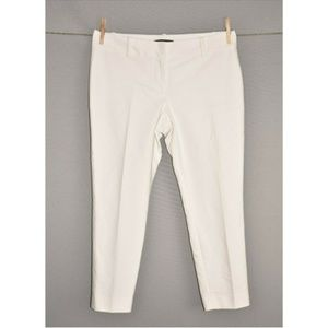 ANN TAYLOR White Slim Leg Cropped Pant